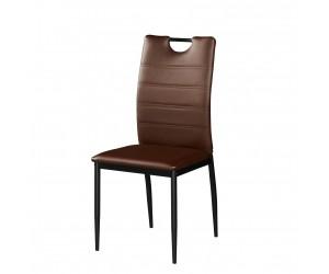 Καρέκλα τραπεζαρίας KORINA 46x41x92εκ. Καφέ