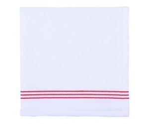 Πετσέτα φαγητού 45x45εκ. KODY Λευκό/ Κόκκινο