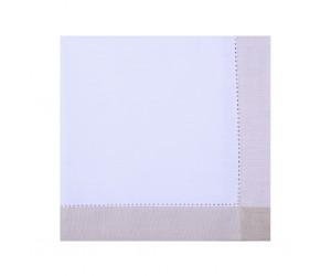 Πετσέτα φαγητού 45x45εκ. YDOK Λευκό/ Μπεζ