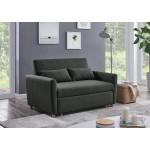 Καναπές κρεβάτι  CARLITO  140x86x87εκ. Γκρι σκούρο