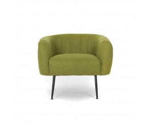 Πολυθρόνα καθιστικού EVELYN 75x76x70εκ. Πράσινο